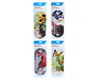 8 inch Suction Cup Thermometer Bird Nature Themed 4 assorted designs-ACCURITE00464A3