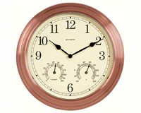 13 inch Copper Indoor Outdoor Clock with Thermometer and Humidity-ACCURITE00919A5