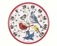 Designer Edition 12 1/2 inch In/Outdoor Songbirds Thermometer-ACCURITE01581