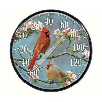 James Hautman Cardinals in Dogwood Thermometer-ACCURITE01597A1
