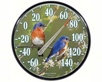 James Hautman 12 1/2 inch In/Outdoor Bluebird Thermometer-ACCURITE01598A1