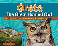 Greta the Great Horned Owl-AP38156
