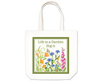 Life is a Garden Large Tote-AC17493