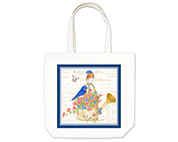 bluebirds Large Tote-AC17497