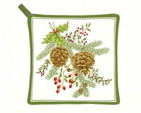 Holiday Pinecones Potholder-AC21327
