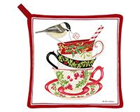 Holiday Teacup Potholder-AC21349