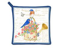 bluebirds Potholder-AC21497