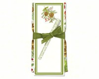 Pinecones Flour Sack Towel and Magnetic Note Pad Set-ACU26327