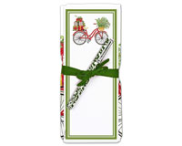 Holiday Bicycle Flour Sack Towel and Magnetic Notepad Set-ACU26335
