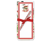 Holiday Teacup Flour Sack Towel & Magnetic Notepad Set-ACU26349