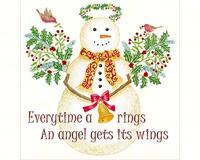 Angel Snowman Flour Sack Towel-ACU34339