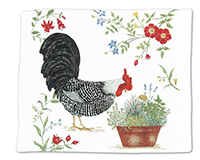 Rooster Single Flour Sack Towel-ACU34425
