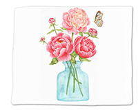 Peonies Single Flour Sack Towel-ACU34488