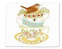 Tea Cups Single Flour Sack Towel-ACU34489