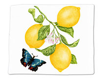 Lemons Single Flour Sack Towel-ACU34490