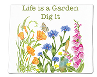 Life is a Garden Single Flour Sack Towel-ACU34493