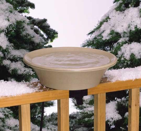 14 inch Bird Bath Deck/Pole Heated