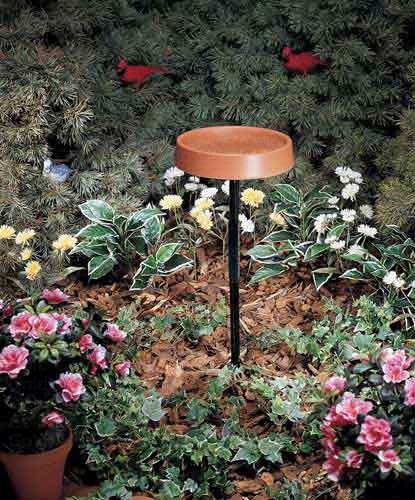 12 in. Heated Bird Bath withMetal Stand