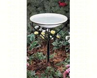 20 in. Bird Bath with Metal Stand (non-heated)-ALLIEDPR850