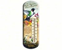 Hummingbird Tin Thermometer-AMEBTHM131