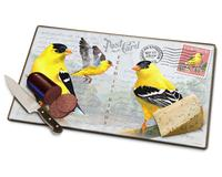 Goldfinch Postcard Cutting Board-AMECBRD243