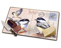 Chickadee Postcard Cutting Board-AMECBRD249