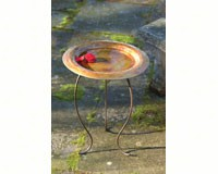 Golden Copperplated Bird Bath-ANCIENT95101