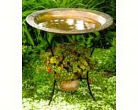 Copperplated Steel Bird Bath-ANCIENT955