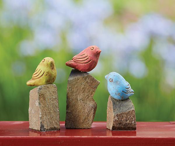 Mini Birds on Rocks