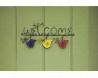Hanging Wire Birds Welcome Sign-ANCIENTAG1103W