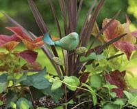 Ceramic Bird Plant Pick Teal-ANCIENTAG1184