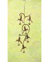 Scrollwork Hummingbird Flamed Wind Chime-ANCIENTAG1453