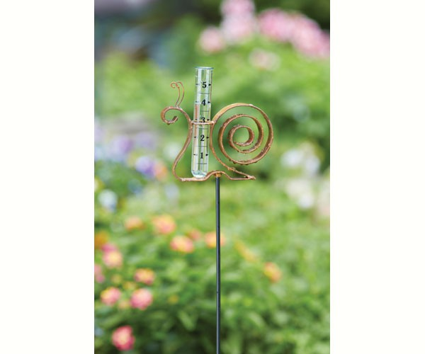 Snail Flamed Rain Gauge Staked