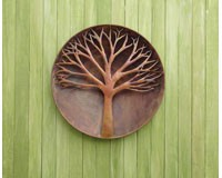Raised Tree Flamed Wall Disc 24 inch-ANCIENTAG83241