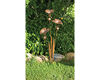 Triple Calla Lily Flamed Garden Stake-ANCIENTAG86051