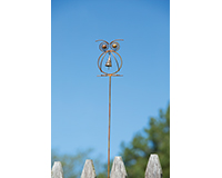Owl withBell Flamed Garden Stake-ANCIENTAG86057