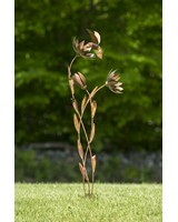 Hummingbird Floral Flamed Stake-ANCIENTAG86079