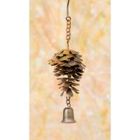 Hanging Pine Cone with Bell Flamed Finish-ANCIENTAG86084