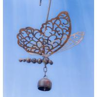 Hanging Butterfly with Bell Flamed Finish-ANCIENTAG86091