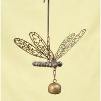 Hanging Dragonfly with Bell Flamed Finish-ANCIENTAG86092