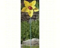 Painted Flower Yellow Spinner Stake large-ANCIENTAG87127