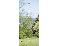 Calla Lily Flamed Rain Chain-ANCIENTRCCALLA