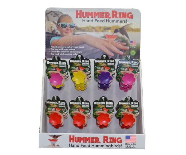 24 pc Hummer Ring Display Multi-Color (12 Red, 4 Pink, 4 Yellow, 4 Purple)
