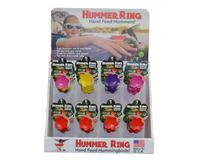 24 pc Hummer Ring Display Multi-Color (12 Red, 4 Pink, 4 Yellow, 4 Purple)-BE112