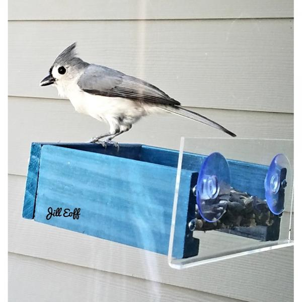 Petite Blue Window Feeder