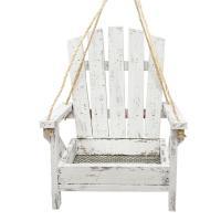 White Adirondack Chair Feeder-BE157