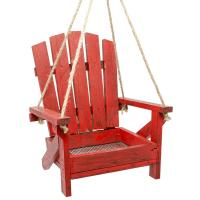 Red Adirondack Chair Feeder-BE159