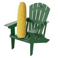 Hunter Green Metal  Adirondack Chair Squirrel Feeder-BE182