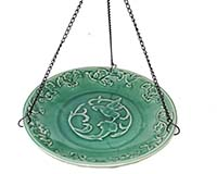 Hummingbird Ceramic Hanging Bird Bath-BE800