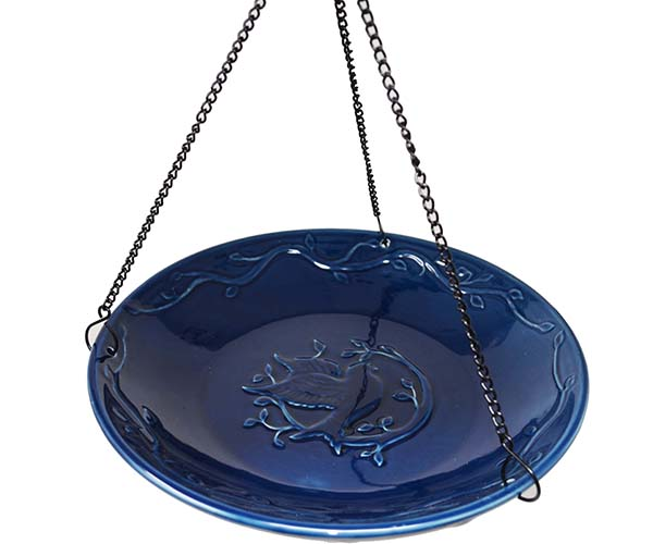Bluebird Ceramic Hanging Bird Bath